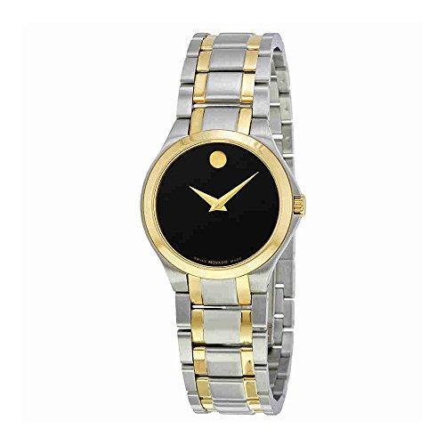 Movado Collection 0606897 - Reloj para mujer, esfera negra