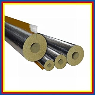 Rock Wool Pipe Bowls Insulation Foil-laminated / 15 x 20mm / 1m Length - 2,50 € Meter by Astratherm