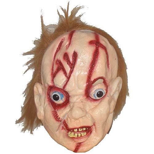 ckie mit roten Haaren Horrormaske Puppe Gruselmaske Halloween ()