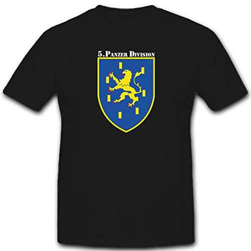 5 Panzerdivision 5 Pzdiv Bundeswehr WK Einheit Wappen Abzeichen Emblem Bundeswehr Koblenz - T Shirt #2810, Farbe:Schwarz, Größe:Herren 5XL