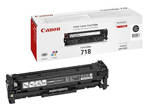 Canon 718 Bk Cartucho toner original Negro Impresora