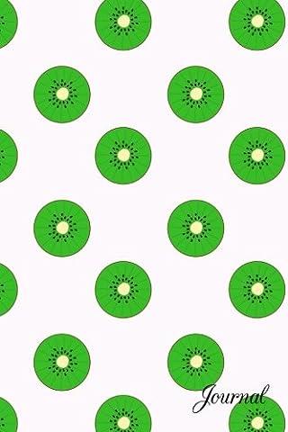 Journal: White green kiwi notebook