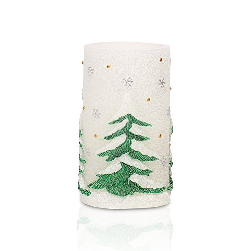 Navidad funciona con pilas vela con temporizador...