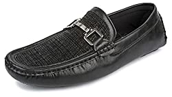 Spunk Mens Black Synthetic Loafers - 9 UK