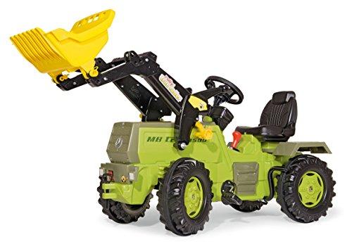 Rolly Toys Trettraktor Rolly Toys 046690 rollyFarmtrac MB 1500 | Trettraktor mit Lader | Traktor mit 2-Gangschaltung u. Bremse, Flüsterreifen, Sitzverstellung | Funktionszubehör nachrüstbar | ab 3 Jahren | Farbe grün