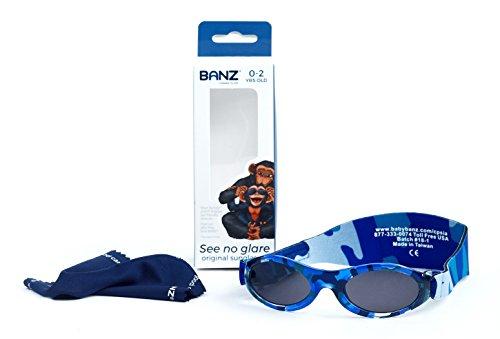 Banz BABY BUDZEE Lunettes de soleil pour enfants de 0 à 2 ans (Camo Bleu b60bc078346c