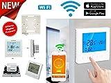 Cronotermostato WIFI Controllo remoto ONLINE TERMOSTATO SMARTPHONE APPLE IOS ANDROID CALDAIA GAS programmabile schermo...