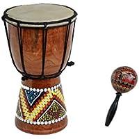 60cm Djembe Bongo Tambor tromel yembe Africa Paint + bartik maraca R3