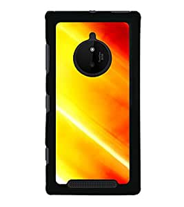 Orange Pattern 2D Hard Polycarbonate Designer Back Case Cover for Nokia Lumia 830 :: Nokia Lumia 830 RM-984