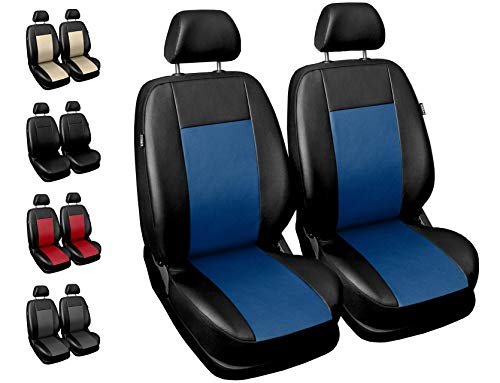 Carpendo Sitzbezüge Auto Vordersitze Autositzbezüge Schonbezüge Vorne mit Airbag System Comfort - Blau