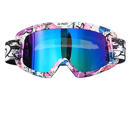 MaxAst Schießbrille für Brillenträger Motorradbrille Vintage Arbeitsbrille Schutzbrille Bunten A02