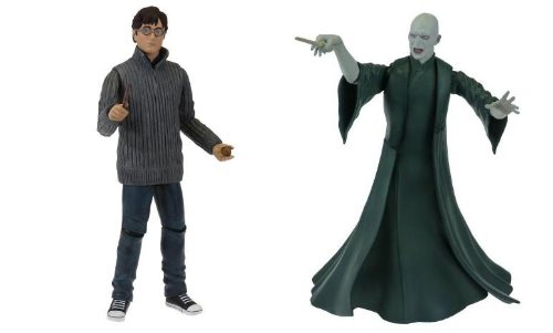 Click for larger image of Harry Potter and The Deathly Hallows Harry and Voldemort 2 Pack