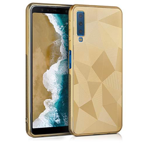 kwmobile Samsung Galaxy A7 (2018) Hülle - Handyhülle für Samsung Galaxy A7 (2018) - Handy Case in Gold