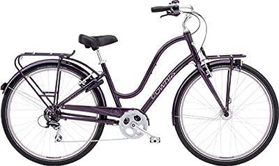 Electra Townie Commute 8D EQ Damen Fahrrad 28 Zoll Beach Cruiser Rad Beleuchtung, 54427, Design Lila - Aubergine