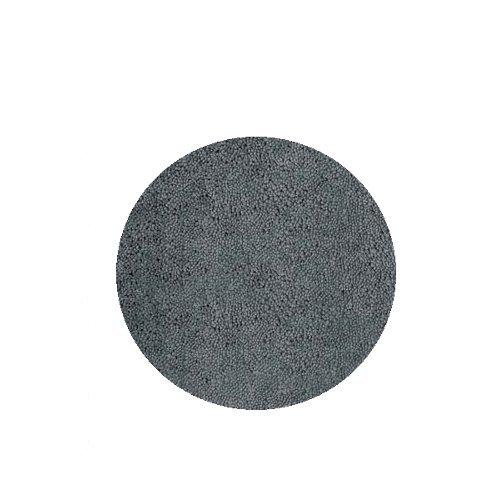 Spirella Badteppich Badematte Duschvorleger Mikrofaser Hochflor | Flauschig | Rutschhemmend | Geeignet für Fußbodenheizung |60 cm Rund | Grau