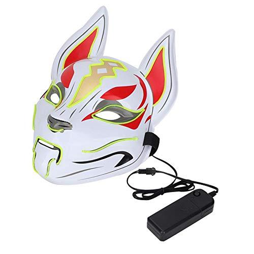 LED Light Up Glow Animals Mask Kostüm für Halloween Party Prop Show Dekor 4 Farben (Grün)