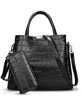 NICOLE&DORIS Damen Handtaschen Tote Umhängetasche Schultertaschen Henkeltaschen Messenger Bag Tasche Crossbody...