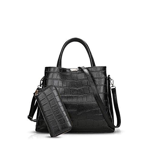 da783249f1 NICOLE&DORIS Femme Sacs à main Bandoulière Sacs portés main Sacs portés  épaule Messenger Bag Crossbody 2PCS