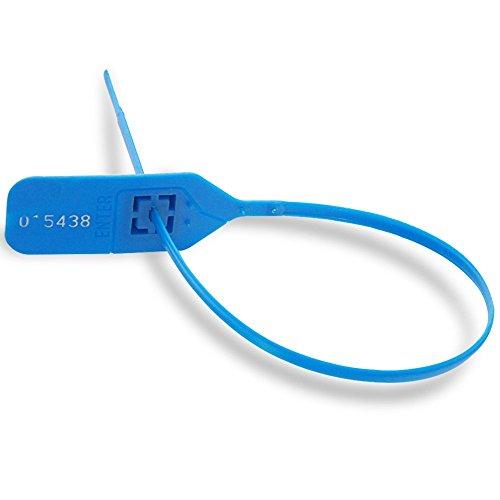 Preisvergleich Produktbild zhengcheng (R) Kunststoff Sicherheit Dichtungen Pull Tight mit Zahn 300 x Blau
