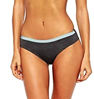 Ultimo The One Phoebe 0368 Brazillian Brief Knickers Charcoal/Mint Grey X-Large