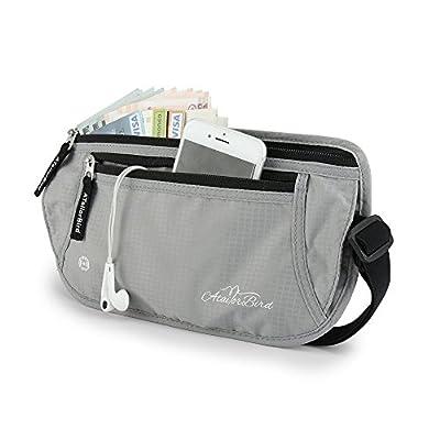 Money Belt for Travel, Waist Pack RFID Against Bum Bag Waterproof Fanny Pack Hidden Travel Passport Wallets - Silver - cheap UK light shop.