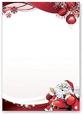 Motivpapier - Briefpapier BRIEF AN DEN WEIHNACHTSMANN 20 Blatt DIN A4 90g/m²