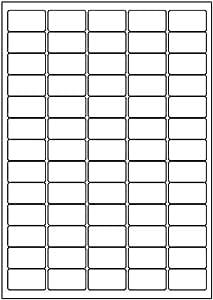 OFA Labels Lot de 100 feuilles de mini étiquettes d'adresse 65 étiquettes par feuille Blanc mat A4 38,1 x 21,2 mm