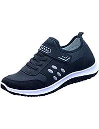 HCFKJ Zapatos Casual Moda De Los Hombres Invierno Malla Al Aire Libre Casual Color SóLido Deporte
