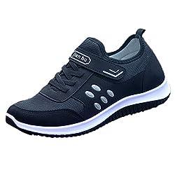 Overmal Herren Mesh Lässig Atmungsaktiv Leichte Outdoor Sport Laufschuhe Flache Schuhe Sneaker Bequeme Kletterschuhe rutschfeste Wanderschuhe Trekkingschuhe Fitness Jogging Sneakers