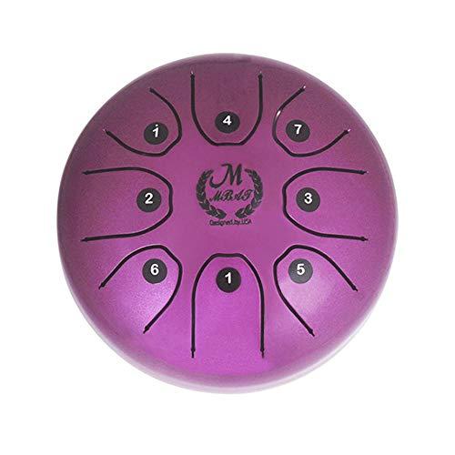 MMBAT Mebite Steel Tongue Trommel Handpan Brahma 5,5 Zoll Mini Glückliche Trommel Musikinstrument Mit Sticks Und Nationalen Stil Tasche (Chinesische Trommeln)