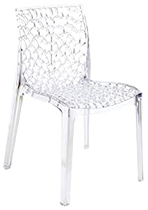 Nr.4 Chaises Mod. Gruvyer Up On Polycarbonate Transparent