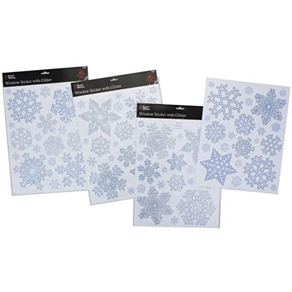 """Silver Snowflake Classic Christmas Carrier Bags 22/"""" x 18/"""" 3/"""""""