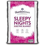 Slumberdown Sleepy Nights Quilted Electric Blanket With 3 Heat Settings, Single