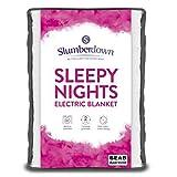 Slumberdown Sleepy Nights Quilted Electric Blanket with 3 Heat Settings, Double
