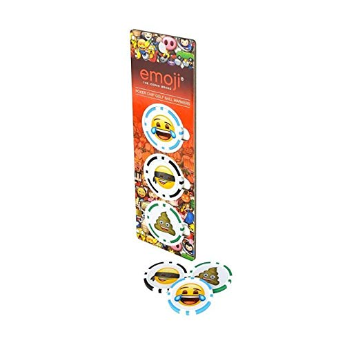 Offizielles Emoji-Unisex Poker Chip Ball Marker (3Stück), rot