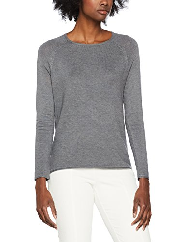 ONLY Damen Onlmila Lacy L/S Pullover KNT Noos, Grau (Medium Grey Melange Medium Grey Melange), 36 (Herstellergröße: S)