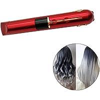 AOLVO 2 en 1 Plancha de Pelo Portátil y Plancha Rizadora Profesional, Mini Hair Straightener con Tres Opciones de Temperatura 165/185/205°C, Función de USB Recargable para Viajar
