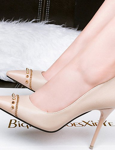 WSS 2016 Chaussures Femme-Décontracté-Noir / Rouge / Gris / Peau-Talon Aiguille-Talons-Talons-Similicuir nude-us5.5 / eu36 / uk3.5 / cn35