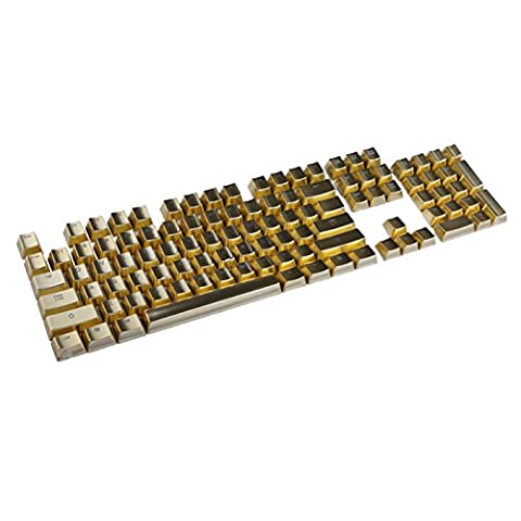 Feicuan 104 Keys Cap Cover PBT Electroplating Metal Backlit Replacement