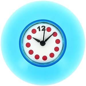 Promobo horloge salle de bain douche fixation ventouse pile incluse bleu cuisine - Horloge de salle de bain ventouse ...