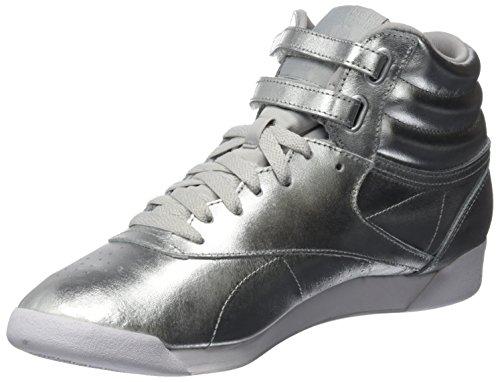 Reebok Damen Freestyle Hi Metallic Gymnastikschuhe, Silber (Silver Metsteelwhite), 38 EU (Reebok Freestyles)