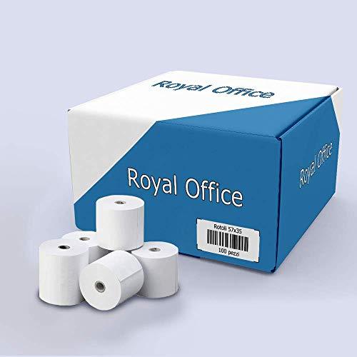 RoyalOffice Thermische Rollen, 57 x 35 m, für Kassen, Bancomat 10 pz. -
