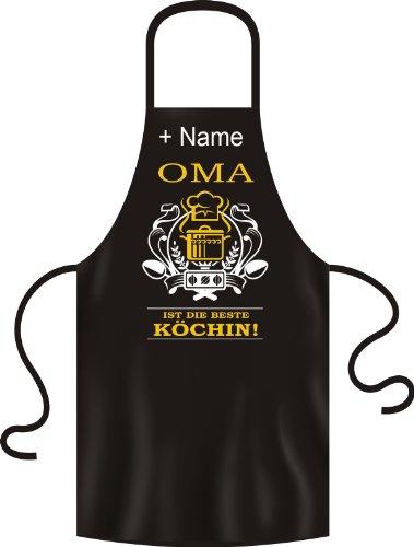Grand-mère est la meilleure Köchin. drôle Tablier de barbecue tablier Imprimé – Maintenant avec le nom de votre choix.