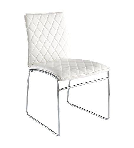 Wink design -Alabama - pièce de 4 chaises blanches - simili-cuir