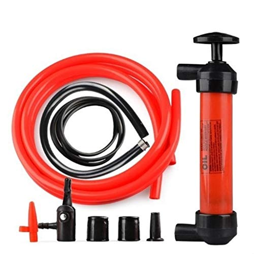 WGE Bomba Transferencia sifón Mano diésel a Gasolina, Bomba de sifón de Uso múltiple, para Transferencia Combustible/Aceite/Fluido/Otros líquidos e inflador Aire