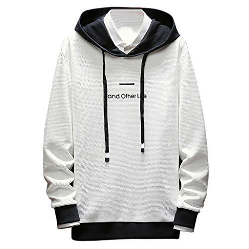 Aoogo Herren Sweatshirt Kapuzenpullover,Männer Simple Cap und Langarm Guard Fashion japanische Bluse Top