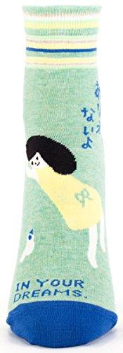 Blue Q-Calze da donna caviglia in your dreams Green Taglia unica (Si inserisce numero di scarpe 36-41 EU)