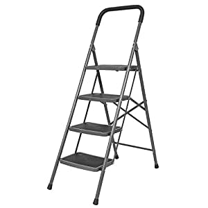 Bathla Boost 4-Step Foldable Steel Ladder with Anti-Slip Steps