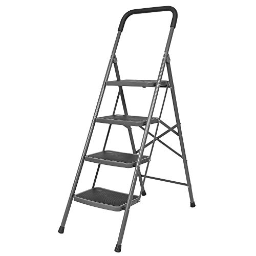 Bathla Boost 4-Step Foldable Steel Ladder with Anti-Slip Steps