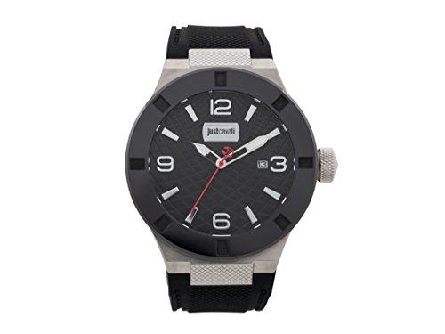 Just Cavalli Reloj Analogico para Hombre de Cuarzo con Correa en Caucho JC1G017P0015